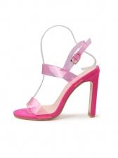 Chunky Heel PVC Upper Summer Sandals