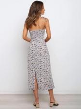 Camisole Floral Ladies Sleeveless Midi Dress