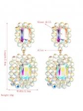 Geometry Vintage Fashion Rhinestone Earrings