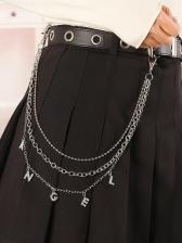 Hip Hop Stylish Street Metal Waist Chain