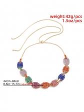Contrast Color Rhinestone Ball Women Necklace