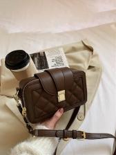 Autumn New RhombusPlaid Shoulder Bag