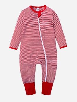 Spring Striped Zipper Newborn Sleepsuits