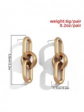 CCB Fabric Geometry Earrings For Women
