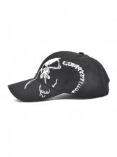 Skull Embroidered Fashion Unisex Baseball Cap