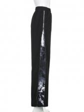 Tie Dye Zipper Loose Wide Leg Pants