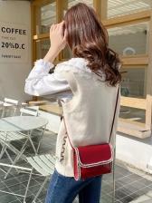 Casual Patchwork Mini Cross Shoulder Bag