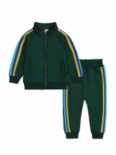 Outdoor Contrast Color Tracksuit Set
