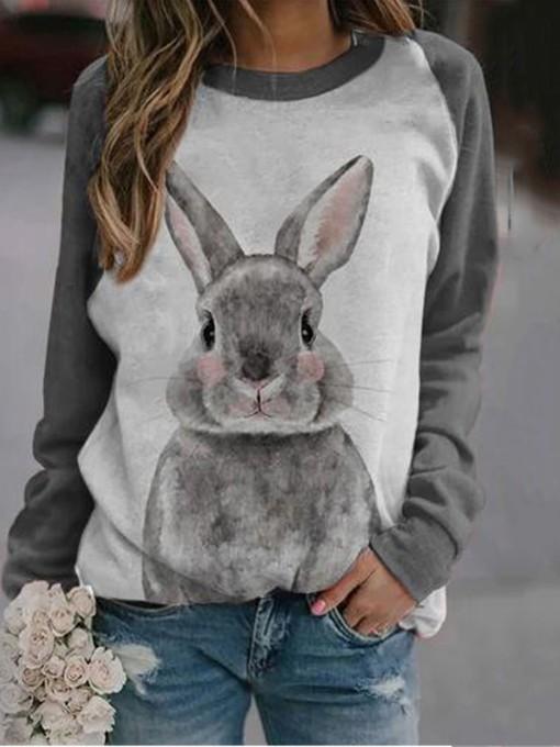 Cute Animal Printed Sweatshirts For Women