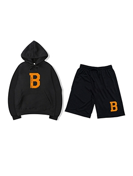Street Letter Hooded Two Piece Sets