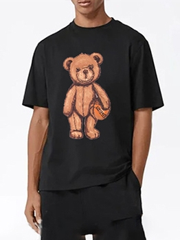 New Bear Print Cute T Shirt