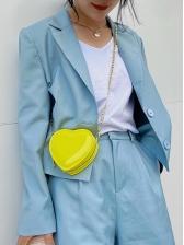 Sweet Heart Shape Zipper Chain Shoulder Bag