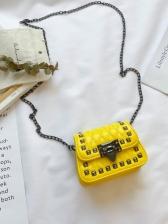 Rivet Decor Chain Shoulder Bags For Girls