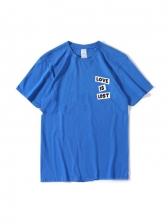 Hip Hop Loose Print Couple T Shirt