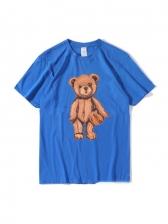 New Bear Print Cute T Shirt