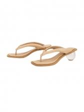 Clear Heel Flip Lop Womens Slippers