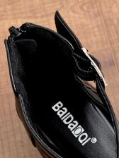 Chic Peep-Toe High Platform Summer Sandals