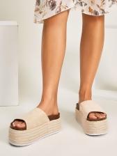 High Platform Round Toe Height Increasing Slippers