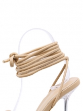 Goblet Clear Heel Lace-Up Ladies Sandal