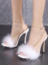 Euro Faux Pearl Chain Ladies Sandal
