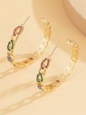 Fashion Street Geometry Design Earrings Women