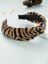 Vintage Striped Wide Edge Hair Hoop Women