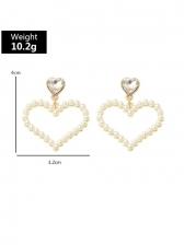 Elegant Ladies Faux-Pearl Design Stylish Earrings
