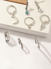 Vintage Individual Stud Earrings 8 Pieces Set