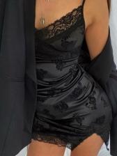 Lace Black Sleeveless Summer Dresses