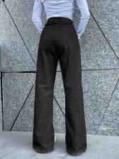 Autumn New High Waist Wide Leg Jeans