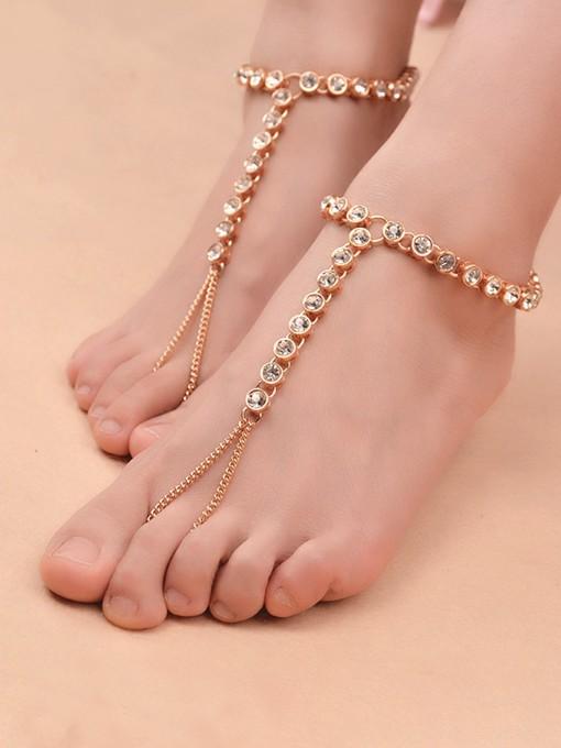 Rhinestone Fashion Beach Women Anklets