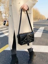 High End Pure Color Square Crossbody Bag
