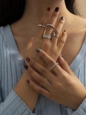 Vintage Full Rhinestone Fashion Ring Sets