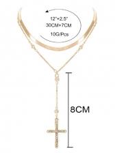 Vintage Style Cross Pendant Necklace