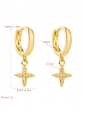 Geometry Zircon Fashion Pendant Earrings