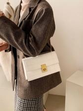 Winter Plaid Korea Style Shoulder Bags
