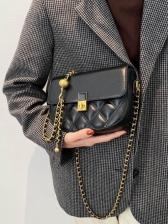 Vintage Chain RhombusPlaid Designer Shoulder Bags