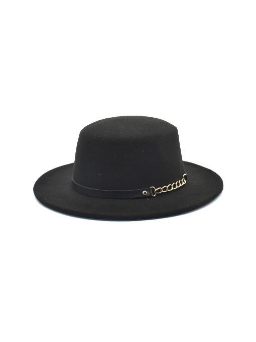 Solid Vintage Jazz Wide Brim Fedora Hat