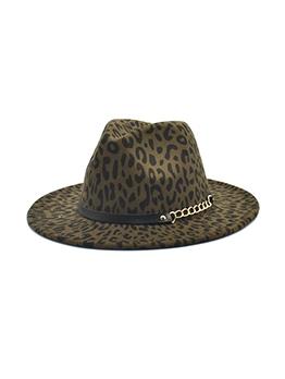 Leopard Print Vintage Unisex Fedora Hat