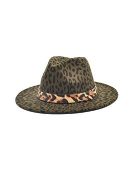 Stylish Chic Leopard Wide Brim Fedora Hat