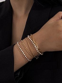 Rhinestone Vintage Simple Multilayer Bracelet