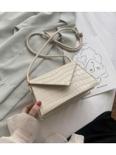 Trapezoidal Stone Grain Solid Color Women Shoulder Bag