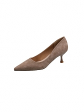 Pointed Toe Solid Heels For Women