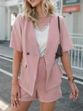OL Style Solid Women Blazer Co Ord