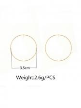 Simple Easy Match Geometry Round Earrings