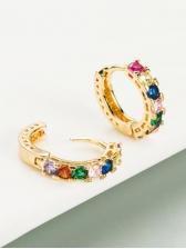 Versatile Zircon Women Earrings Fashion