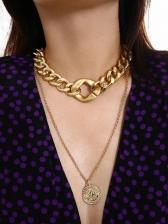 Vintage Punk Pendant Layered Necklace
