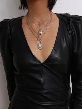 Retro Style Cross Heart Pendant Necklace