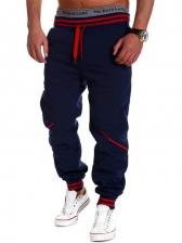 Contrast Color Patchwork Jogger Pants