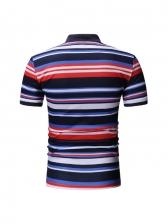 New Striped Short Sleeve Polo Shirt